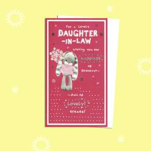 Daughter In Law Cute Bunny Birthday Card