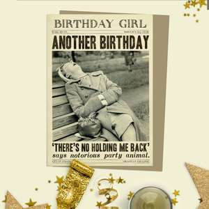 Birthday Girl Humour Funny Birthday Card