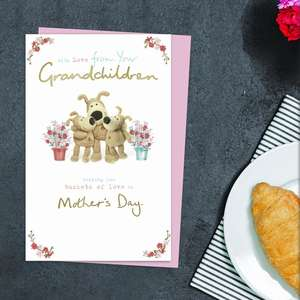 From Your Grandchildren Mother's Day Card Alongside Its Light Pink Envelope