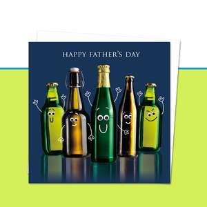 Happy Fathers Day Beer Bottle Googlie Eyes Image