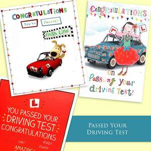 A Selection Of Cards To Show The Depth Of Range In Our Driving Test Pass Section