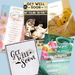 A Selection Of Cards To Show The Depth Of Range In Our Get Well Soon Section