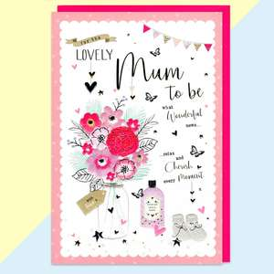 For The Mum To Be Baby Card Sitting On The Mantelpiece