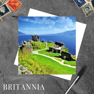 Urquhart Castle Castle Blank Greeting Card And White Envelope