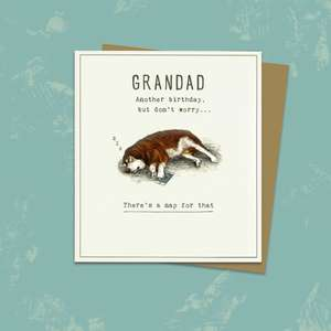 Grandad Birthday Card Alongside its Kraft Envelope
