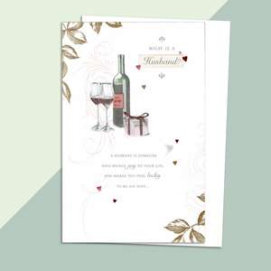 What Is A Husband Greeting Card Alongside Its White Envelope