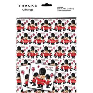 Hamster Soldier Giftwrap Alongside 2 Matching Tags