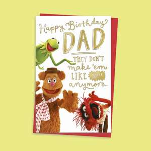 Dad The Muppets Card Alongside Its Red Envelope