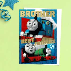Brother Best Friends Thomas The Tank Engine Birthday Card Featuring  Thomas And Percy. Complete With White Envelope