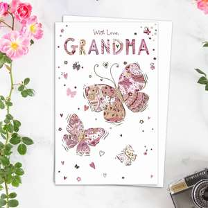 Grandma Mothers Day Design Alongside Its White Envelope