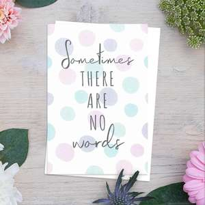 Sometimes There Are No Words Card Front Image
