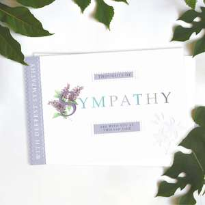 Thought Of Sympathy Lilac Card Front Image
