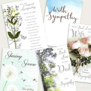 A Selection Of Cards To Show The Depth Of Range In Our Sympathy Section