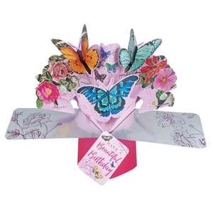 Butterfly Pop Up Card Shown How The Recipient Would Receive It