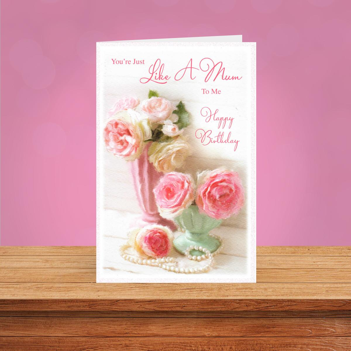 Like A Mum Birthday Card Displayed On A Wooden Shelf