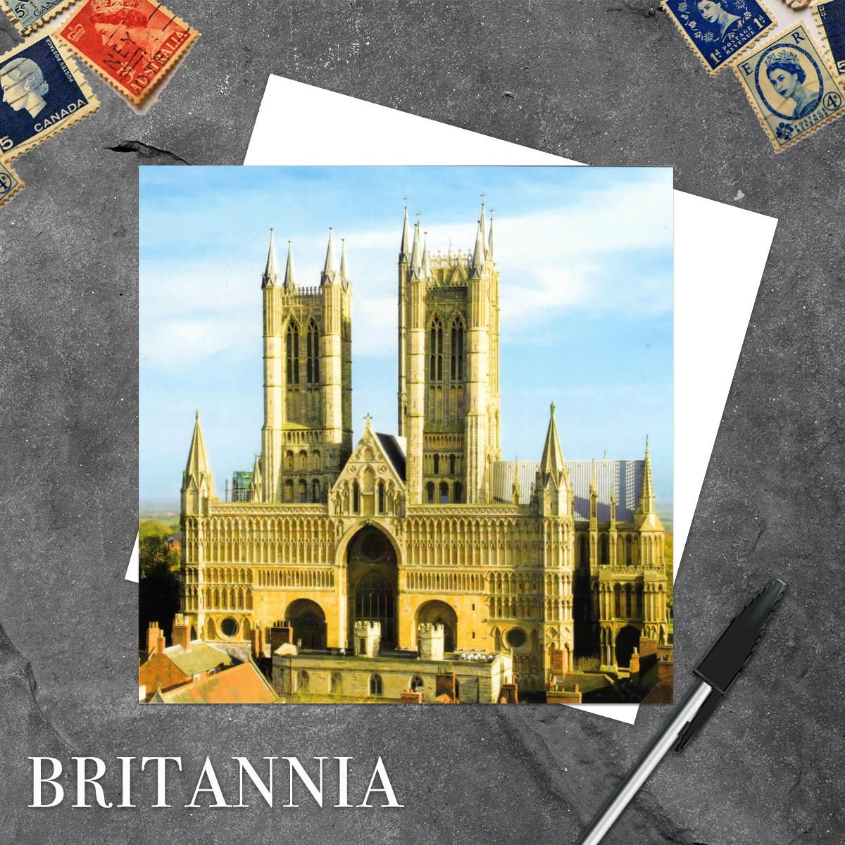 Lincoln Cathedral Blank Greeting Card