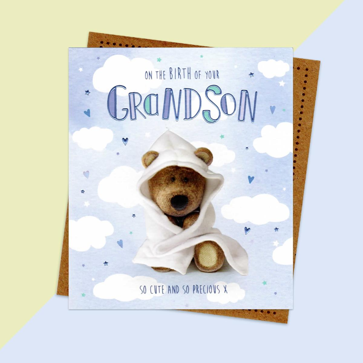 Birth Of Grandson Baby Congratulations Card