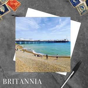 Palace Pier Brighton Blank Greeting Card