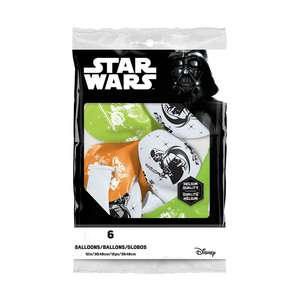 Image Of A Packet Of 6 Star Wars Latex Balloons