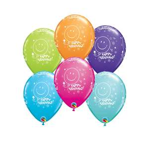Image Of A Packet Of 6 Retirement Latex Balloons