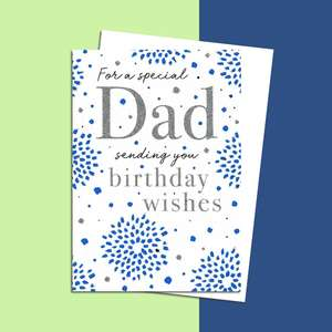 Dad Birthday Card Sitting On A Wooden Shelf