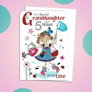Age 5 Granddaughter Card Sitting On The Shelf