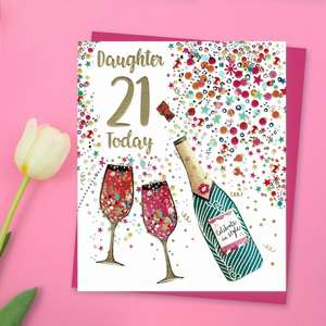 Daughter 21 Today Celebrate In Style Card Front Image