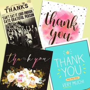 A Selection Of Cards To Show The Depth Of Range In Our Thank You Section