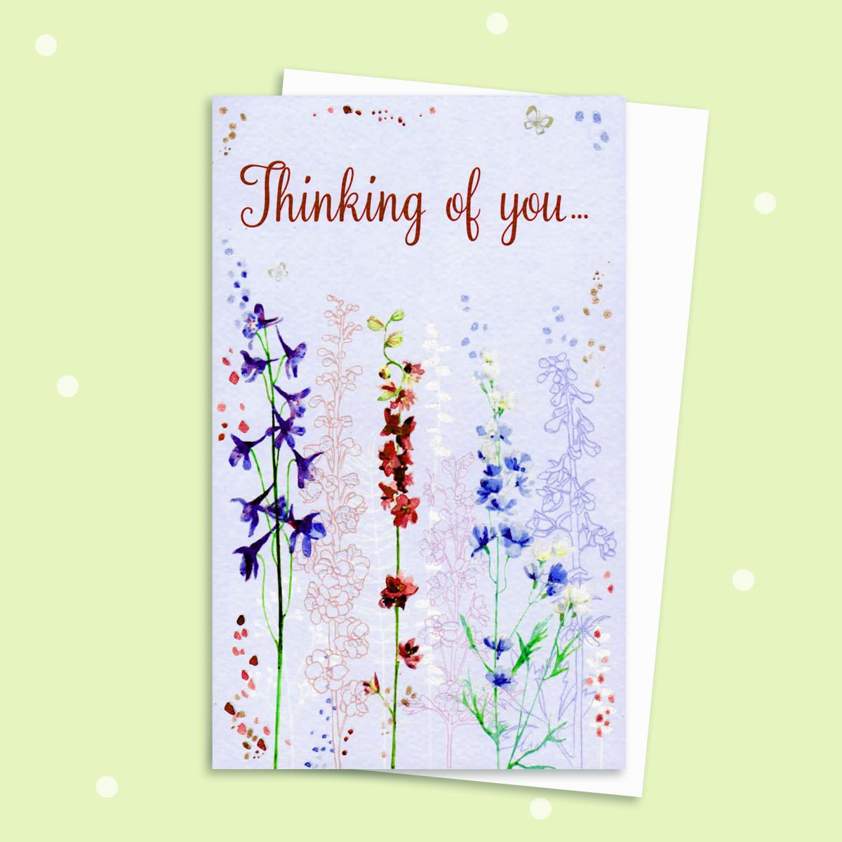 Thinking Of You Card With Envelope