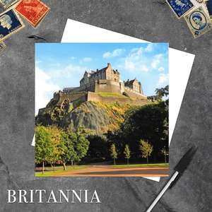 Edinburgh Castle Rock Blank Greeting Card