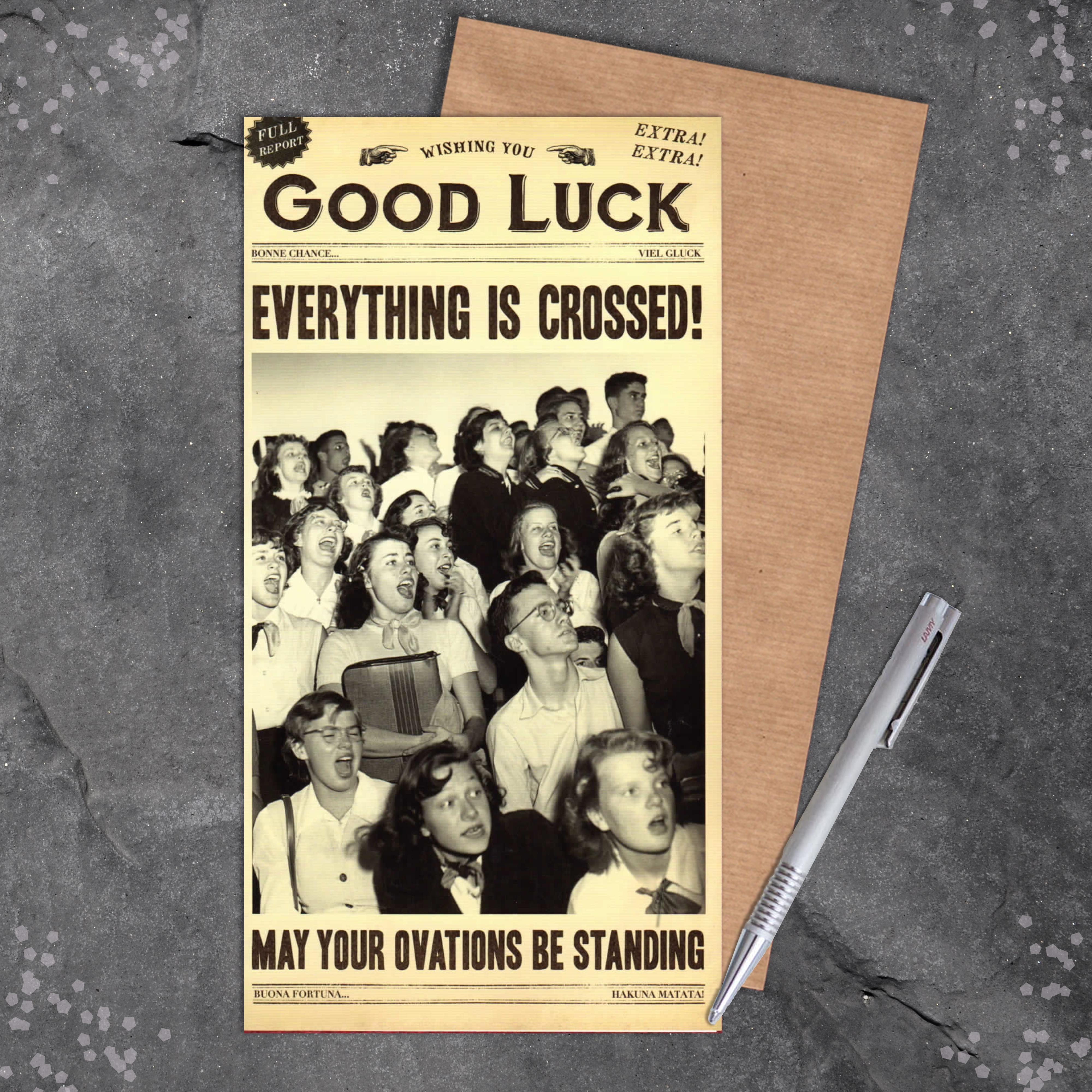 Humorous Good Luck Card Full Image