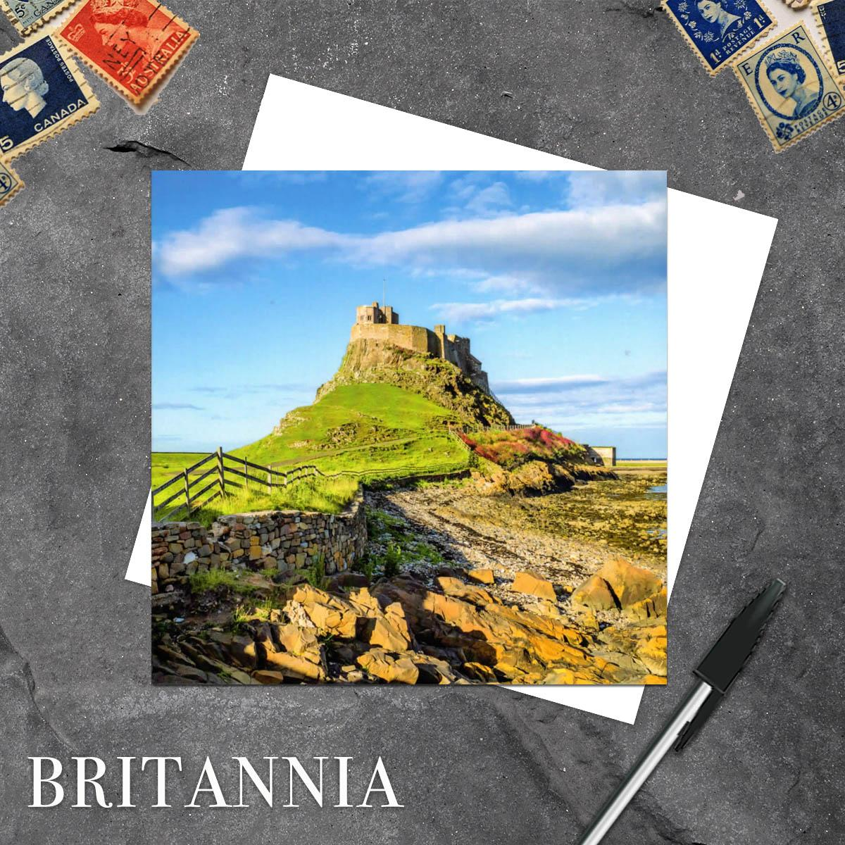 Lindisfarne Castle Blank Greeting Card