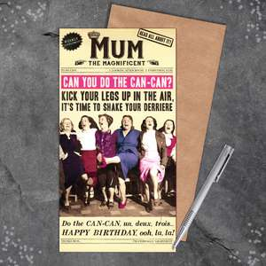 Mum Funny Birthday Card Design