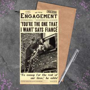 Funny Engagement Card Full Image