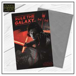 Rule The Galaxy Star Wars Birthday Card Sat On A Display Shelf