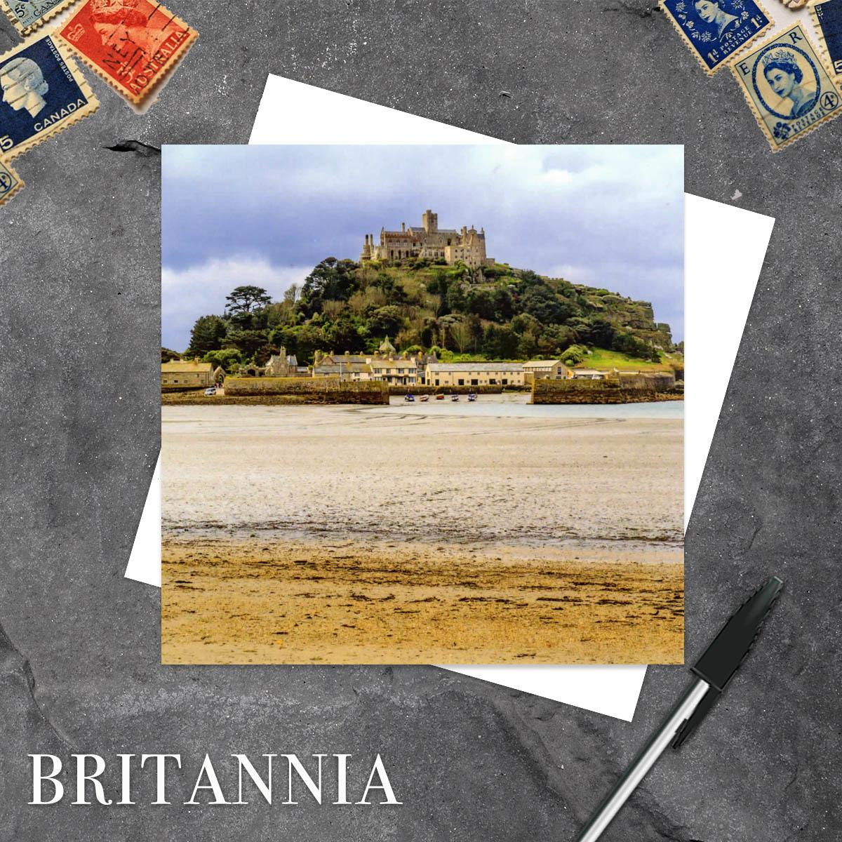 St Michael's Mount, Cornwall Blank Greeting Card