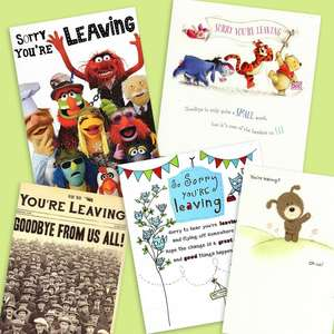 A Selection Of Cards To Show The Depth Of Range In Our Sorry You're Leaving Card Section