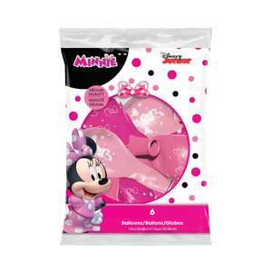 Image Of Packet Of 6 Minnie Mouse Latex Balloons