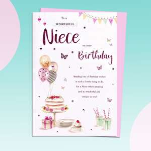 Niece Birthday Card Sitting On A Display Shelf