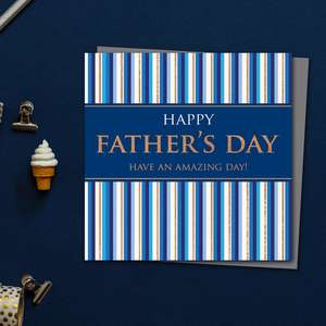 Happy Father's Day Have An Amazing Day Card Front Image
