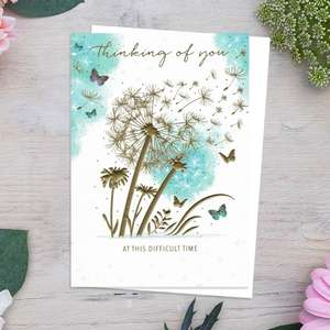 Thinking Of You Golden Dandelions Card Front Image