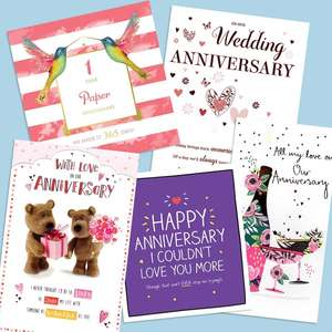 A Selection Of Cards To Show The Depth Of Range In The Our Anniversary Section