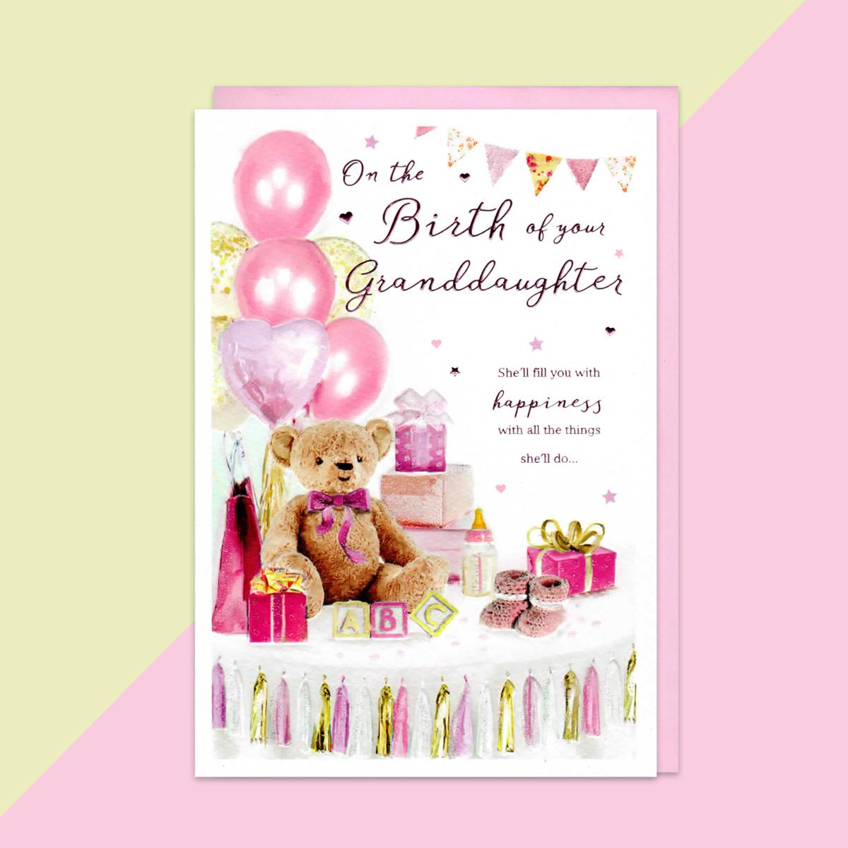 Birth Of Granddaughter Baby Card
