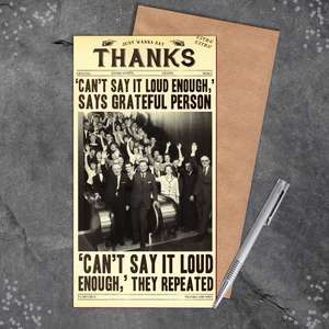 Thank You Fleet Street Funny Greeting Card