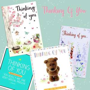 A Selection Of Cards To Show The Depth Of Range In Our Thinking Of You Card Section