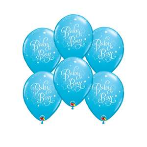 Baby Boy Latex Packet Of 6 Balloons
