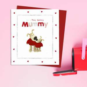 Mummy Valentine's Day Card Alongside Its Red Envelope