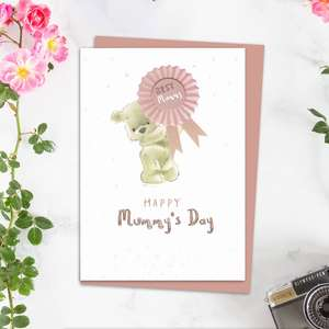 Happy Mummy's Day Greeting Card Alongside Its Light Pink Envelope