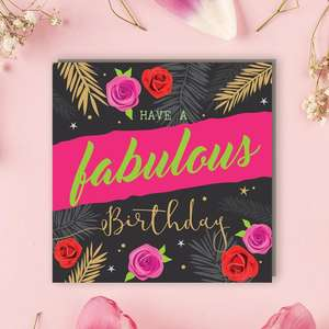 Sparkle - Fabulous Birthday Front Image