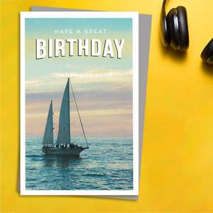 Gentlemen's Gallery - Yachting Birthday Card Front Image